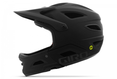 GIRO SWITCHBLADE MIPS Helmet with Removable Chinbar Matte Black 2021