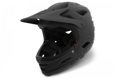 GIRO SWITCHBLADE MIPS Helmet with Removable Chinbar Matte Black
