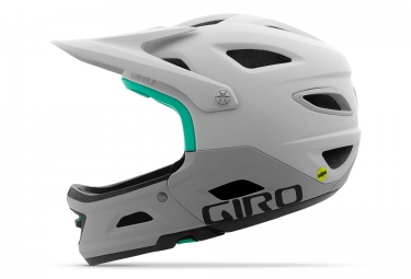 GIRO SWITCHBLADE MIPS Helmet with Removable Chinbar White Grey