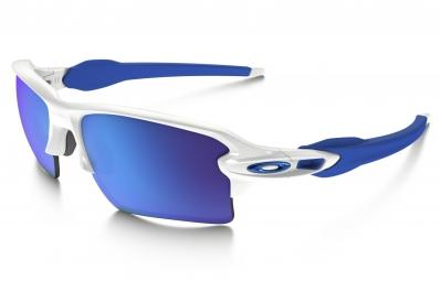 lunettes oakley flak 2 0 xl blanc bleu iridium ref oo9188 20