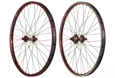 PRIDE RACING RIVAL PRO SX 24'' Wheelset Red