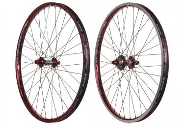 paire de roues cruiser pride racing rival pro sx 24 rouge