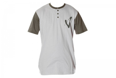 T shirt volume henley gris s