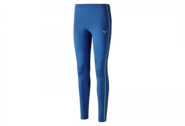 collant long mizuno core bleu vert s