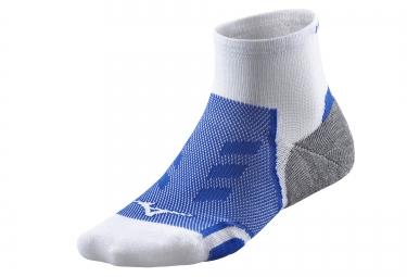 paire de chaussettes mizuno drylite race blanc bleu 38 40