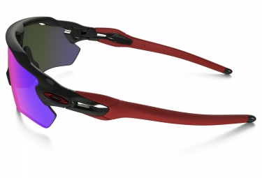 oakley lunettes radar ev path black red iridium ref oo9208 21