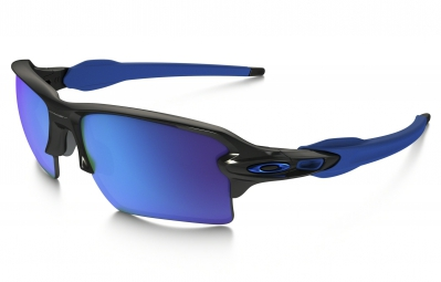 lunettes oakley flak 2 0 xl team colors noir bleu iridium ref oo9188 23