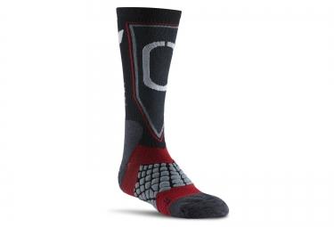 paire de chaussettes reebok crossfit gris rouge 37 39
