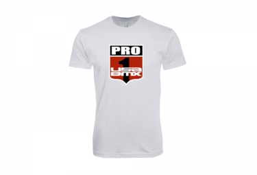 t shirt usa bmx pro 1 shield blanc s