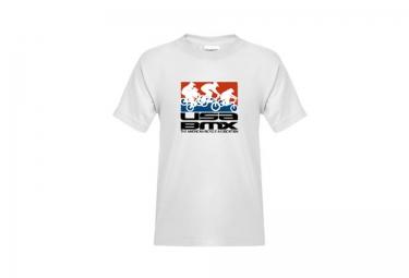 T-Shirt Enfant USA BMX RIDERS ON STACKED Blanc
