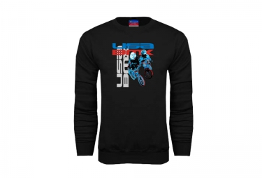 sweat usa bmx riders noir m