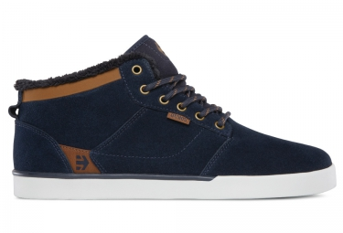 chaussures bmx etnies jefferson mid bleu marron 42 1 2