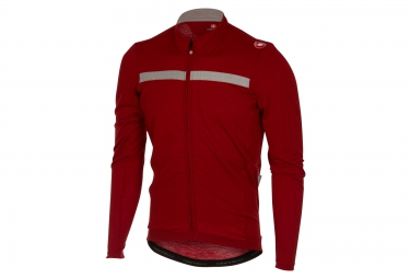Maillot manches longues castelli costante rouge s