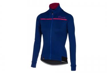 maillot thermique femme castelli potenza bleu rose xs