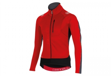 maillot coupe vent castelli trasparente 3 wind rouge s