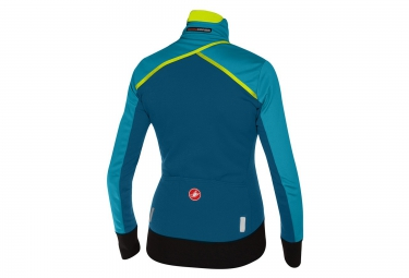 maillot coupe vent femme castelli trasparente 3 wind bleu xs