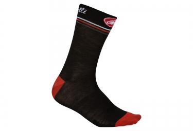 paire de chaussettes castelli atelier noir rouge 37 39