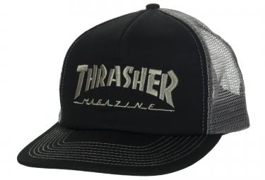 Casquette THRASHER MAG LOGO MESH Noir Gris