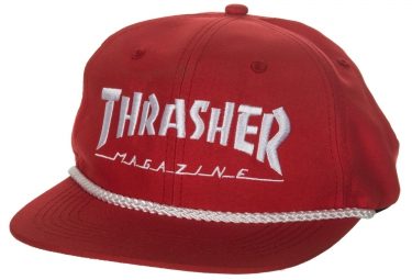 Casquette THRASHER ROPE SNAPBACK Rouge Blanc