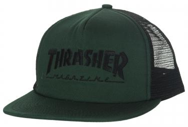 Casquette THRASHER MAG LOGO MESH Vert Noir