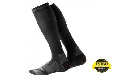 chaussettes de compression skins essentials noir gris xs