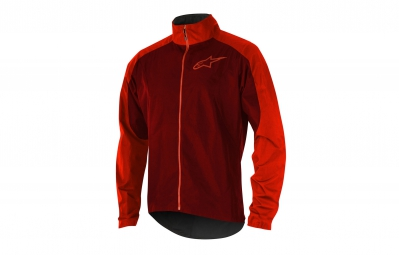 veste coupe vent alpinestars descender 2 rouge l