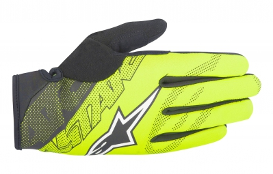 gants hiver alpinestars stratus jaune noir xl