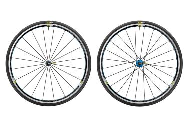 paire de roues mavic 2017 ksyrium bleu sram shimano yksion elite 25mm