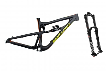 Kit Cadre SANTA CRUZ Nomad 3 Carbon Noir M + Fourche ROCKSHOX Lyrik RCT3 Solo Air 180 27.5´´ BOOST