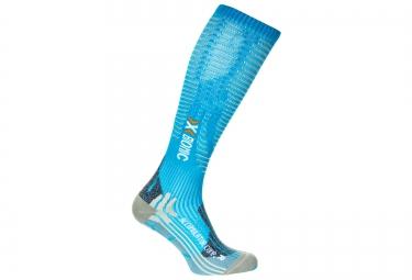 paire de chaussettes de compression femme x bionic effektor competition bleu s 35 37