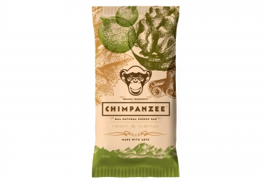 chimpanzee barre energetique 100 naturelle raisin noix 55g vegetalien
