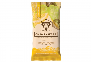 chimpanzee barre energetique 100 naturelle citron 55g sans gluten