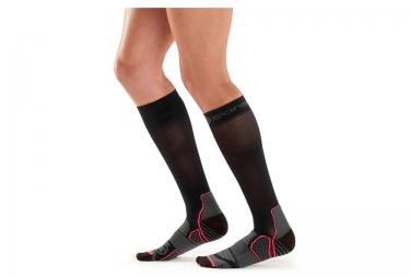 chaussettes de compression femme skins active noir gris xs