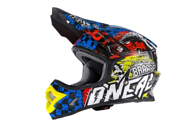 Casco Integral O'Neal BACKFLIP RL2 EVO WILD Bleu / Rouge