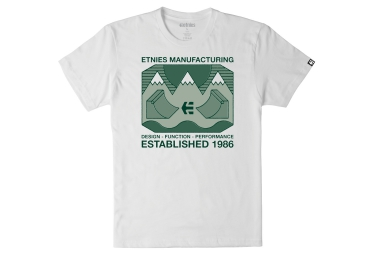t shirt etnies eternal landscape blanc m