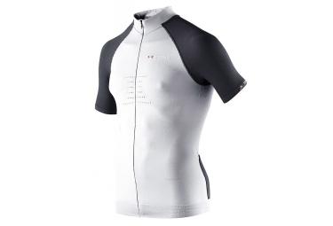 x bionic maillot manches courtes race bt 2 2 blanc noir s