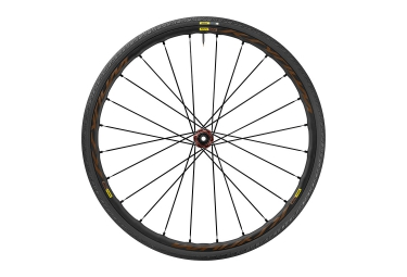 roue avant mavic 2017 ksyrium elite allroad disc centerlock axe 12x100 yksion guard 28mm