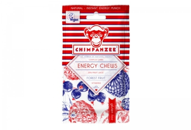 CHIMPANZEE Energy Chews 100% Natural Forest Fruit 50g GLUTEN FREE