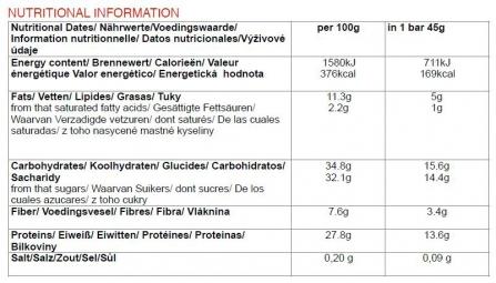 CHIMPANZEE Barre Protéinée 100% naturelle Dates Vanille 45g SANS GLUTEN