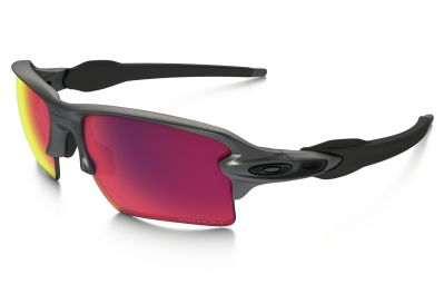 lunettes oakley flak 2 0 xl steel collection gris violet iridium prizm road ref oo9188 49