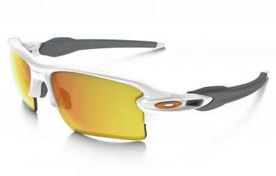 lunettes oakley flak 2 0 xl blanc jaune iridium ref oo9188 19