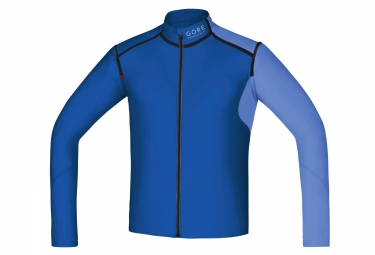 Veste soft shell gore running wear fusion windstopper bleu s