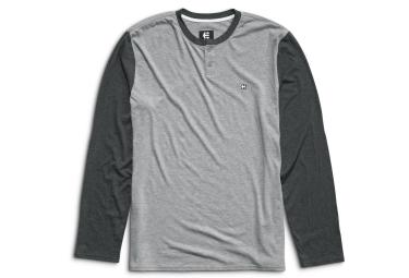 T shirt manches longues etnies transfer ls henley gris xl