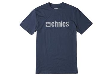 t shirt etnies box logo bleu s