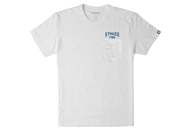 t shirt etnies team runner pocket blanc s