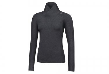 Maillot thermique gore running wear sunlight noir gris 40