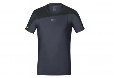 maillot manches courtes gore running wear fusion noir gris m