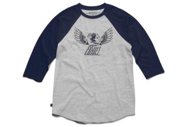 t shirt etnies winged heritage gris bleu s