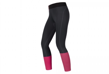 Collant long gore running wear sunlight noir rose 36