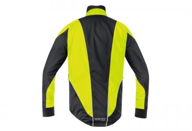 veste impermeable gore bike wear oxygen 2 0 gore tex jaune noir s